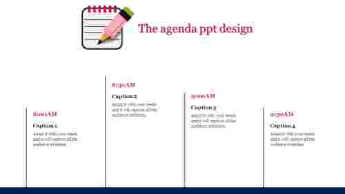 A four noded agenda PPT design